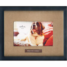 "Hallmark Photo Frame - ""Handsome"" faux suede mat 4 X 6 pic BOXED"