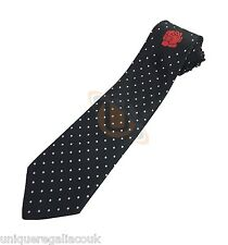 Masonic Rose Croix polkadot Tie with Logo