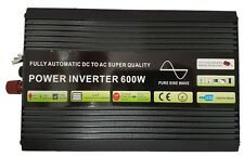 600W/1200W (Peak)Pure Sine Wave Power Inverter Soft Start 12V DC to AC Inverter