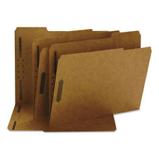 Smead 11 Point Kraft Folders Two Fasteners 1/3 Cut Top Tab Letter Brown 50/box