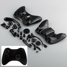 New Black Wireless Controller Joystick Shell +Buttons For Microsoft XBOX 360