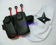 Naruto Weapon Kunai & Plastic Shuriken Holder Set Cosplay Bag