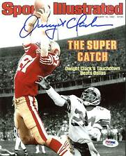 """49ers Dwight Clark Signed 8X10 Spotlight Photo Of """"The Catch"""" SI Cover PSA/DNA"""