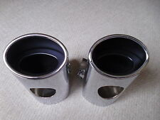 MERCEDES BENZ E CLASS 4 DOOR SALOON W211 TWIN STAINLESS STEEL EXHAUSTS 2002 - 06