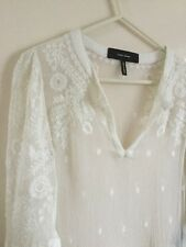 ISABEL MARANT EMBROIDERED SILK BLOUSE TOP FR 42 UK 10