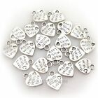 WHOLESALE 100PCS SILVER/GOLD PLATED LOVE HEART BEADS CHARMS PENDANTS JEWELRY DIY