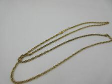 "Vintage 1/20 12k Yellow Gold Filled Rope Link Chain Necklace 27""  3.7mm"
