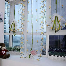 Shade Sheer Window Shutter Door Room Hand Embroidered Floral Decoration Curtain