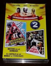 MIL MASCARAS, SANTO, BLUE DEMON  NEW DVD 2 IN ONE  EL CASTILLO DE LAS  MOMIAS