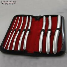 Hegar Dilator Sound set 8 surgical gynaecology kit High Quality Stainless Steel