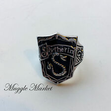 Hogwarts slytherin House crest Ring black silver Horcrux Draco Voldemort Harry