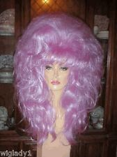 SIN CITY WIGS LONG PURPLE LOCKS! BIG HAIR WILD FUN LOOK WAVY SOFT THICK BANGS
