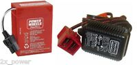 6 Volt Power Wheels Red Battery Plus Charger Combo 6V Fisher Price 00801-0712