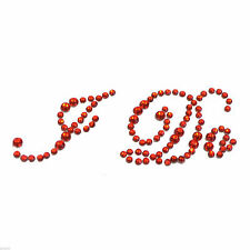 Deep Red Crystal  I Do Wedding Shoe Sole Sticker