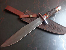 Custom Damascus Survival Tracker Knives Bear Skinner Hunter ONE OF A KIND C9