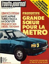 L' AUTO-JOURNAL n° 19 . 1/11/1981 . Renault 5 Alpine Turbo - Volkswagen Golf GTI