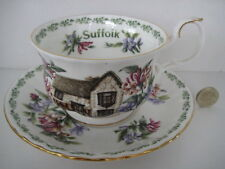 RARE ROYAL ALBERT ENGLAND BREAKFAST CUP AND SAUCER SUFFOLK COUNTRY COTTAGES