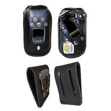 Rugged Heavy Duty Fitted Genuine Leather Case, Steel Clips for Kyocera DuraPro