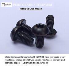 4 x Titanium Bottle Cage Bolts Black  M5X10  GR5 Nitride Black
