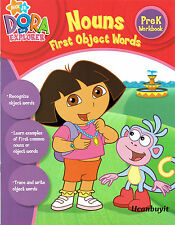 DORA the Explorer NOUNS First Object Words Preschool Workbook Ages 4+  PreK+