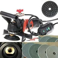 Variable Speed Wet Polisher Grinder Diamond 20 Pad 2 DAMO BUFF Granite Concrete