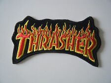 THRASHER PATCH LOGO Embroidered Iron On Badge SKATER THRASH METAL MAGAZINE NEW