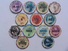 Old havana sample set cerámica poker chips 13 unid.