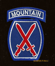 10TH MOUNTAIN DIVISION HAT PATCH TAB US ARMY VETERAN PIN UP GIFT LIGHT INFANTRY