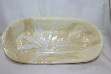 Island Plantation Pretty Large China Bird Of Paradise Oval Serving Bowl