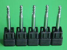 3MM X 50MM 3-FLUTE HRC45 Al & Cu CUTTING 45° HELIX CARBIDE FLAT ENDMILL 5x