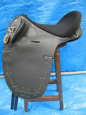 """SYD HILL BLACK SYNTHETIC STOCK SADDLE 17"""""""