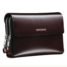 Men Genuine Leather Clutch Handbag Wallet Organizer Phone Holder Checkbook
