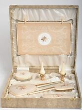 STUNNING VINTAGE DRESSING TABLE SET WITH ORIGINAL CANDLES AND BOXED