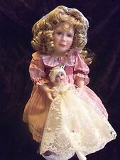 UFDC fine porcelain doll with baby doll designed by Connie Walser Derek Emily