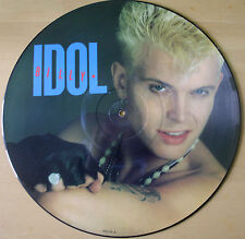 "EXCELLENT! BILLY IDOL REBEL YELL 12"" VINYL PICTURE PIC DISC 1981"
