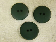25 NEW 3/4 INCH CHRISTMAS GREEN DULL/MATTE FINISH BUTTONS # 261CD29 - 18