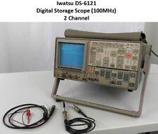 IWATSU DS-6121 DIGITAL STORAGE SCPOPE OSCILLOSCOPE (100MHZ) 2 CHANNEL !!