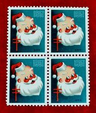 1951 (WX155) Block of 4 Jolly St Nick/Santa US Christmas Seals/Stamps MNH (A)