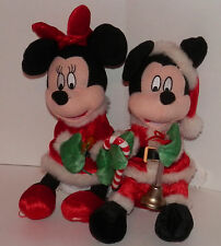Mickey & Minnie Mouse Christmas Singing Plush Figures