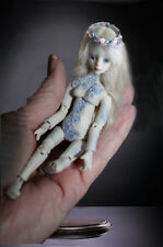 BJD 4in Ball Jointed Doll Porcelain Silk Mohair OOAK Simply Enchanted Tattoo Bdy