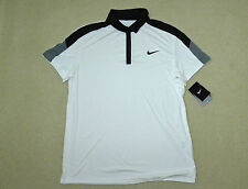 mens NIKE tennis team court white polo shirt size L NEW nwt $45