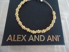Authentic Alex and Ani  NILE  Shiny Gold Finish  Bangle New W/ Tag Card & Box