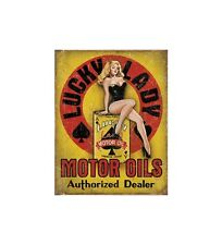 Metal Sign Lady Luck Motor Oil (30 x 40 cm)