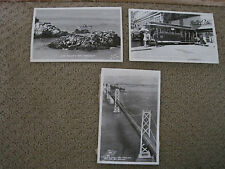 San Fracisco Real Postcards Lot 3 Black and White