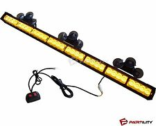 "35"" LED Amber Light Emergency Warning Strobe Flashing Yellow Bar Hazard Security"