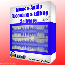 Audacity PROFESSIONAL AUDIO RECORDING & EDITING SOFTWARE (for Microsoft Windows)