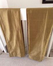 Pottery Barn Rod Pole Dupioni Wheat Gold Curtains (2)