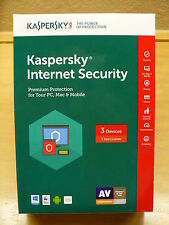 Kaspersky Internet Security Premium Protection (3 Devices 1 Yr)