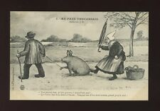 Animals PIG Au Pays Thouarsais Artist early French  PPC