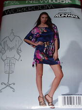 NEW LOOK #A6051 - LADIES GORGEOUS COCOON TOP or DRESS w/BELT PATTERN  8-18 uc